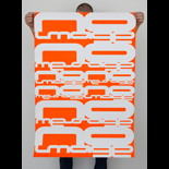'No Image No Message' 2003<BR>Fluorescent poster edition