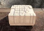'Maak Kunst Van Het Leven'<BR>Concrete column, 2020